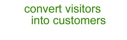 convert visitors into customers