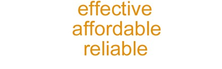 effective affordable reliable